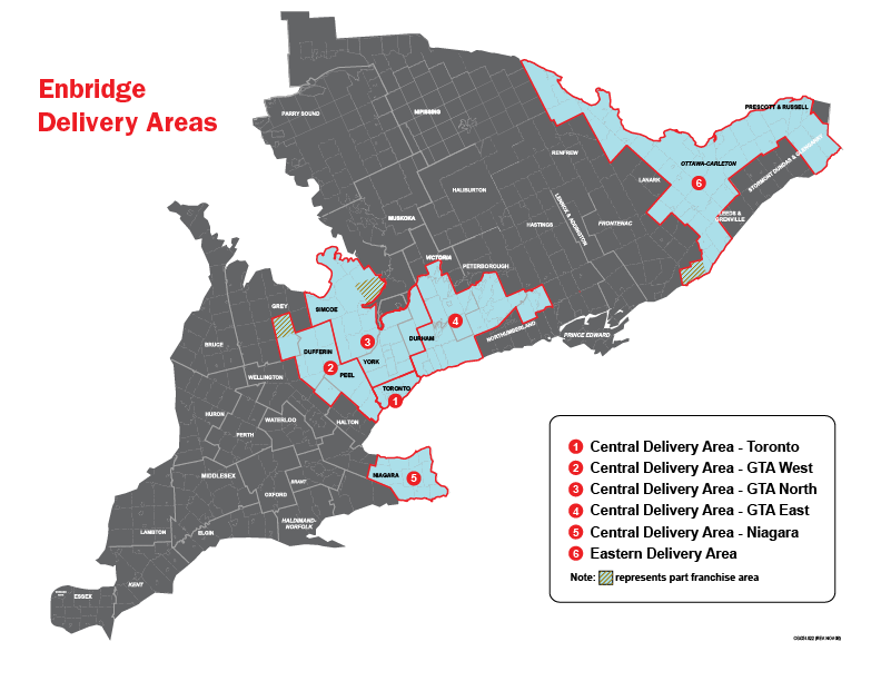 Enbridge Service Areas